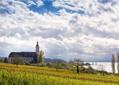 Die Barockkirche Birnau im Herbst