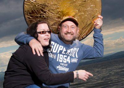 A little bit crazy: Pavel Kaplun und Tina Müller im von mir organisierten Workshop von Pavel Kaplun