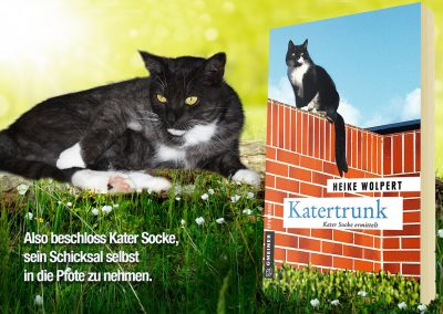 """Composing zum Katzenkrimi """"Katertrunk"""" von Heike Wolpert"""