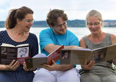 Die Lesenden: Beate Etzold, Martin Binder, Bernadette Hagen