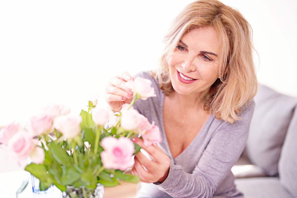 Frau, entspannt und stressfrei