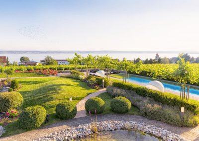 Garten des Premium-Hotels Burgunderhofs in Hagnau