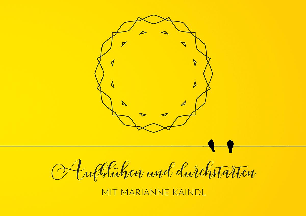 """Das Logo von """"Aufblühen und durchstarten mit Marianne Kaindl"""""""