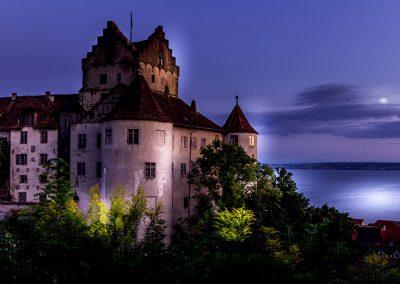 Meersburg, Alte Burg bei Nacht